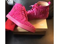 Pink Christian Louboutin Boots/Trainers