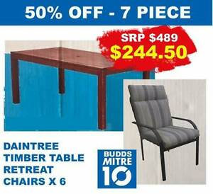 OUTDOOR DINING SETTING 7 PCE HALF PRICE CLEARANCE Bundall Gold Coast City Preview