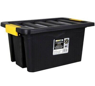 Caja de Almacenaje con Tapa 40 L, 52x35x28 cm,plástico,objetos,decora,bricolaje