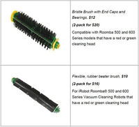 iRobot Roomba filters & brushes for Roomba 500/600/700 Series