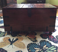 GORGEOUS solid wood trunk and wine storage cabinet