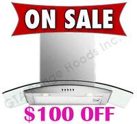 Wall Mount Chimney Range Hood Kitchen Exhaust Fan ON SALE $299
