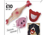 Set of 3 dog toys