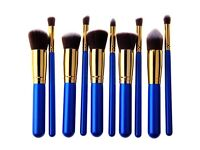Pre Order! Bliss & Grace Luxury Gold & Blue Brush Set - 10 Pieces