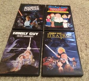 Family Guy and Robot Chicken DVD's
