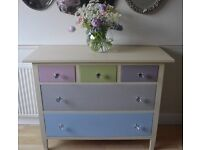 Marks & Spencer 5 Drawer Hand Painted Chest Of Drawers