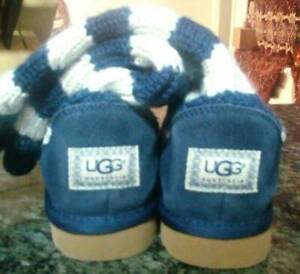 NEW UGG Blue and White Striped Knit Booties Cottesloe Cottesloe Area Preview