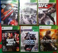 multiple games for X-box 360