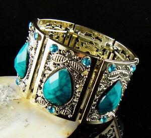 Wide Cool Lucite Fancy Adjustable Bangle Bracelet--new!!