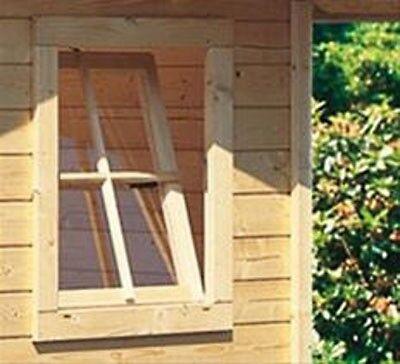 Gartenhausfenster für Wandstärke 38 mm 69x79,6cm Dreh- und Kipp natur