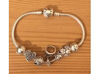 For Sale Pandora bracelet and charms.