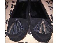 Black Flats topshop new