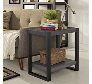 Brand new charcoal and grey end table