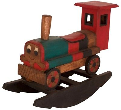 Kinder Holzschaukel Wippe Schaukel Eisenbahn Holz Massiv Asia Möbel China 83cm