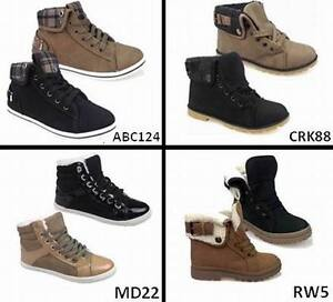 LADIES-WOMENS-FUR-LINED-WINTER-ANKLE-GRIP-SOLE-CASUAL-BOOTS-TRAINERS-SIZE-3-8