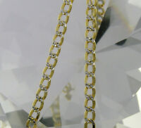 """10K Solid Gold Link Curb Chain Necklace 20"""""""