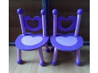 2 Princess Chairs
