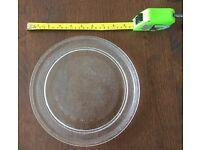Glass microwave turn table plate, 25cm diameter