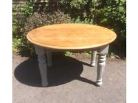 Vintage Oak Top Shabby Chic Farmhouse Kitchen/Dining Table