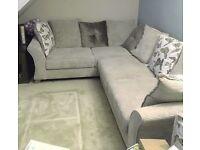 DFS Corinne Cream Corner Sofa