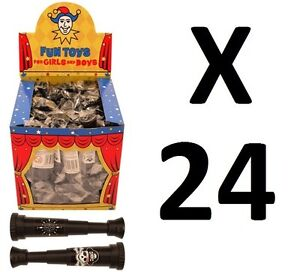 24 X MINI PIRATE TELESCOPE CHILDREN LOOT GOODY PARTY BAG PINNATA FILLERS TOYS