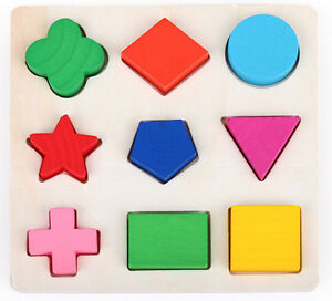 Wooden-Plated-Colorful-Play-Building-Blocks-Baby-Educational-Bricks-Toy-9-Shapes