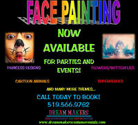 FACE PAINTING FOR PARTIES AND EVENTS