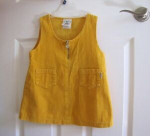 Yellow corduroy jumper