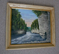 Elora Gorge Oil Painting by G. Bosch '69