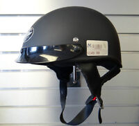 Victory Flat Black Half Helmet NEW $99