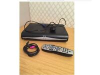 SKY+ HD BOX NEARLY LIKE NEW WITH POWER LEAD AND HDMI CABLE WITH REMOTE CONTROL FOR SALE
