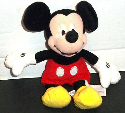 """The Disney Store Collectible MICKEY MOUSE 9"""" Beanbag Dated 2001 EUC"""