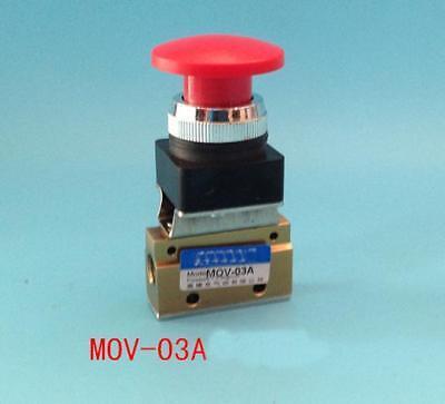 1pcs Mov-03a 18 Thread Push-button Switch Pneumatic Reversing Valve
