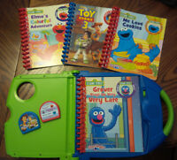 Story Reader with 4 books - Like new!