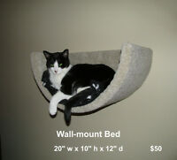 Wall-mounted cat bed, new!
