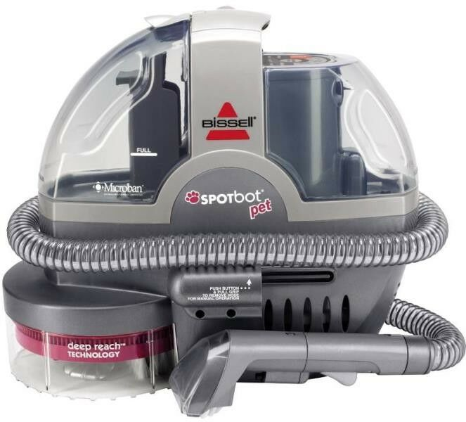BISSELL SpotBot Pet Portable Deep Cleaner Silver Sparkle 33N8