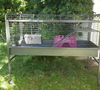 Rabbit Cage, extra large-sturdy metal-rolling cage