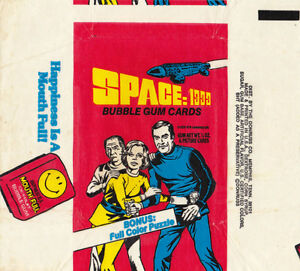 RARE 1976 NON SPORTS TV SHOW BUBBLE GUM CARD WRAPPER SPACE 1999