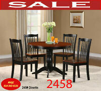 2458, dining, dinette sets, chaise, hatches, table, sets, chaise