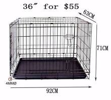 "PET cage 36"" training crate kennel dog cat rabbit metal foldable Richlands Brisbane South West Preview"