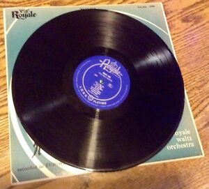 VINTAGE 33RPM VINYL. ROYALE WALTZ ORCHESTRA. RECORDED IN EUROPE Gatineau Ottawa / Gatineau Area image 2