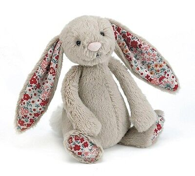 JELLYCAT Kuscheltier Schmusetier Blossom Bashful Bunny Hase beige 18 cm 0+