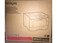 Lexmark MS610dn mono laser printer for office or home (minor issue)