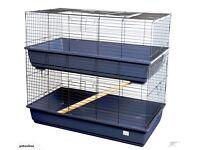 Double Tier Rabbit Cage,blue colour.