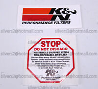 - = K&N Performance Filters/Intake Systems '2 DECALS' = -