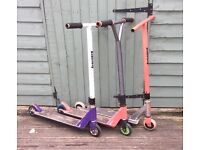 THREE KIDS SCOOTERS