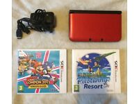 Nintendo 3DS XL with 2 games and charger