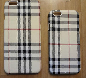 BRAND NEW IPHONE 6 & 6 PLUS HARD COVER CASE, PLAID PRINT STYLE..