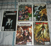 DC COMIC BOOKS (1)CATWOMAN AND(4) BIRDS OF PREY