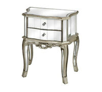 50% OFF - MIRRORED NIGHT TABLE (NIGHT STAND)